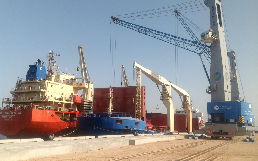 Milestone operation in the Port of Duqm (Oman)