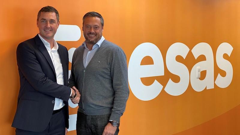 Bavo De Cock - nieuwe CEO ESAS, Robert Decant oprichter en voormalig CEO ESAS
